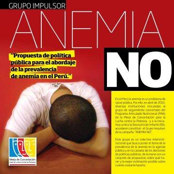 Anemia NO. - Mesa de Concertación para la lucha contra la Pobreza