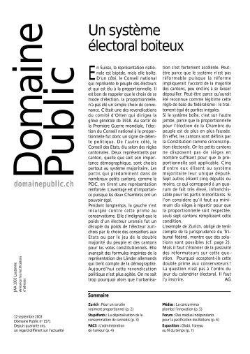 édition no 1571 (12 septembre 2003, page 6) - medienhilfe