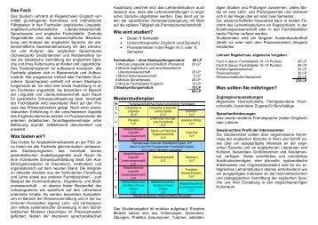 Das Fach - Institut für Anglistik/Amerikanistik - Friedrich-Schiller ...