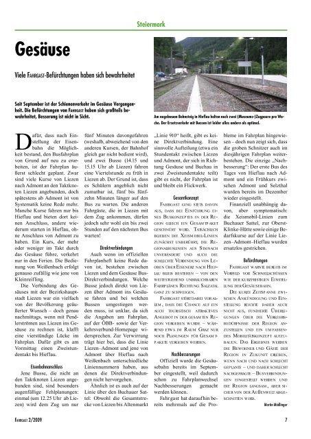 Fahrgast Zeitung - FAHRGAST Steiermark