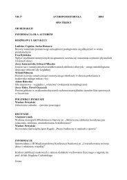 Antropomotoryka 27-2004 - Akademia Wychowania Fizycznego w ...