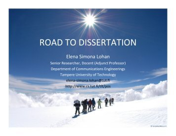 ROAD TO DISSERTATION