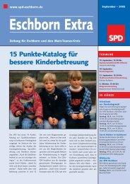 15 Punkte-Katalog für bessere Kinderbetreuung - SPD Main-Taunus