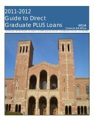 2011-2012 Guide to Direct Graduate PLUS Loans - UCLA Financial ...