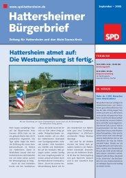 Hattersheimer Bürgerbrief - SPD Main-Taunus