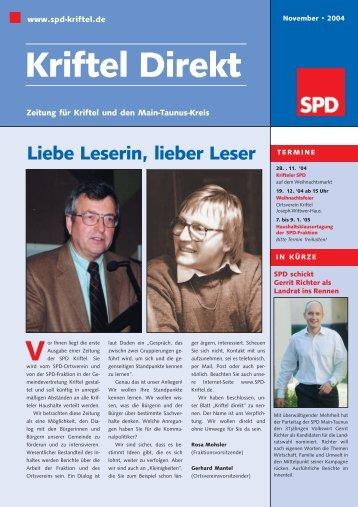 Kriftel Direkt - SPD Main-Taunus