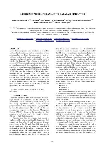 a petri net model for an active database simulator - Universidad ...