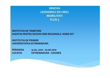 EXTREMADURA - Agentia pentru Dezvoltare Regionala Nord-Est