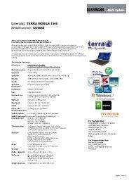 Datenblatt: TERRA MOBILE 1546 Artikelnummer ... - BUSSMANN