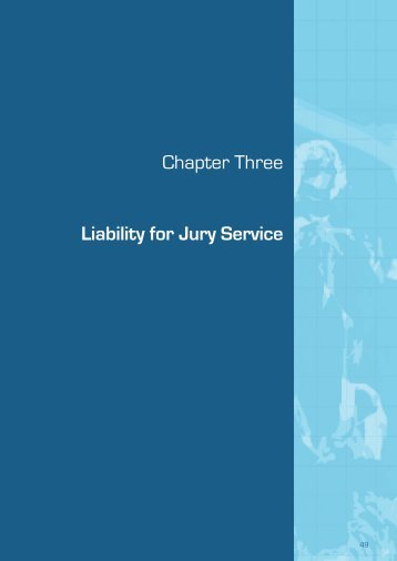 (September 2009) - Chapter 3 Liability for Jury Service - Law Reform ...