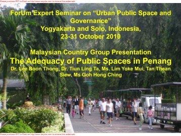 Malaysian Presentation.pdf - Forum for Urban Future in Southeast Asia