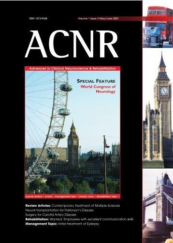 World Congress of Neurology - ACNR