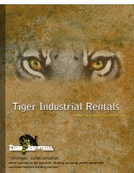 tiger industrial rentals - The Modern Group