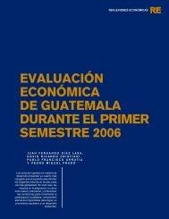 evaluación económica de guatemala durante el primer semestre 2006