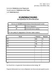 KUNDMACHUNG - Waidhofen an der Thaya-Land