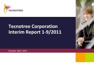 1-9 2011 Interim Report, presentation - Tecnotree