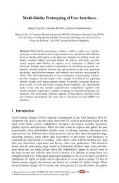 LNCS 4662 - Multi-fidelity Prototyping of User Interfaces - lilab - UCL