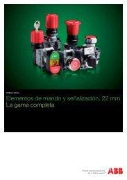 Elementos de mando y señalización, 22 mm La gama completa - Abb