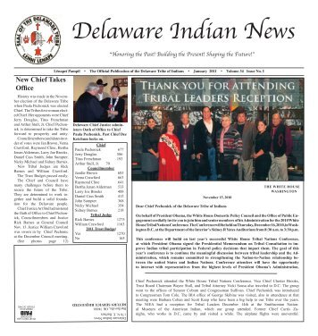 DIN January 2011.indd - Delaware Tribe of Indians