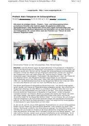 Protest: Kein Totsparen im Schauspielhaus Seite 1 ... - Till Brühne Foto