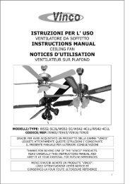 uso ventilatore da soffi'i'i'o instructions manual ceiling fan notices d ...