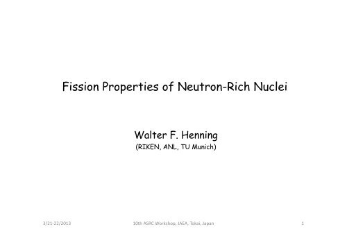 Fission Properties of Neutron-Rich Nuclei