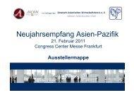 Neujahrsempfang Asien-Pazifik - Dr. Klippe Consult