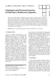 Tribological and Electrical Properties of Filled Epoxy Reinforced ...