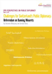 Challenges for Switzerland's Public Diplomacy: Referendum on ...