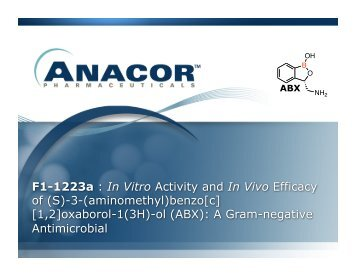 In Vitro Activity and In Vivo Efficacy of (S)-3-(aminomethyl ... - Anacor