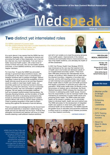 October 2010 - New Zealand Medical Association