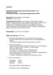 Protokoll Ordentliche Jahreshauptversammlung des Eltern- und ...