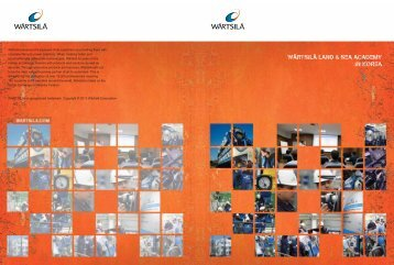 Training Services brochure - Wärtsilä