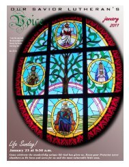 Life Sunday! - Our Savior Lutheran Church