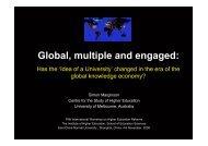ECNU 4-6 November Simon Marginson.pdf - Centre for the Study of ...