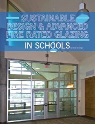 Sustainable Design and Advanced Fire Rated Glazing in ... - Safti First