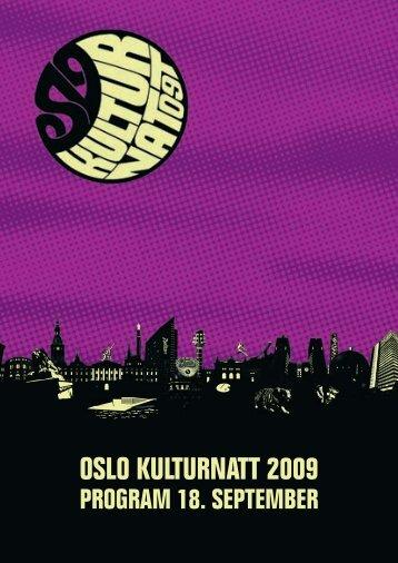 Sjekk ut programmet her! - Oslo kulturnatt
