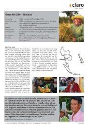 Weitere Informationen zu Green Net - claro fair trade AG