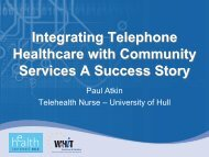 Integrating Telephone Healthcare with Community Services A ...