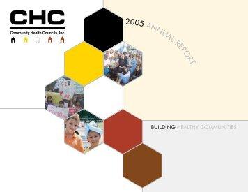 2005 ANNUAL REPO RT - Community Health Councils