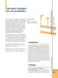 Stenosi esofagee in età pediatrica - Sied