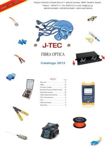 Fibra Optica CATALOGO - J-TEC