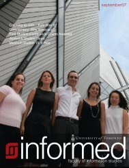 Fall 2007 - Faculty of Information - University of Toronto