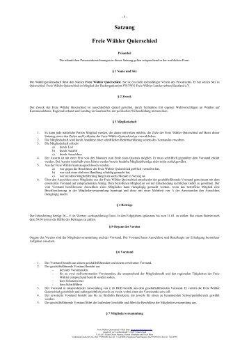 Satzung-FW-Quierschied 2 Seiten - Freie Wähler Quierschied