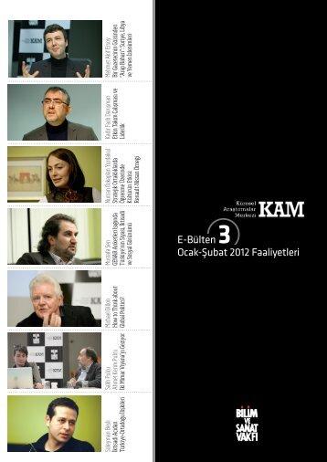 kam e-bülten 3 (pdf) - Bilim ve Sanat Vakfı