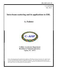Intra-beam scattering and its applications to ERL - Collider ...