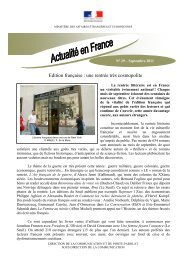 Edition française : une rentrée très cosmopolite