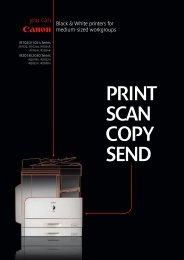 coPy SEnD - Brochures - Canon