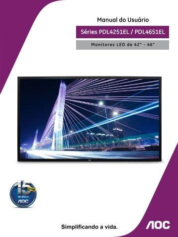 Séries PDL4251EL / PDL4651EL Manual do Usuário - AOC