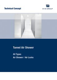 Technische Auslegung Plenum Integrated Filter Fan - Filtac